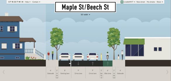 Maple St:Beech St
